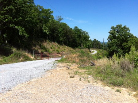 gravel road at abandoned development atop highway 25