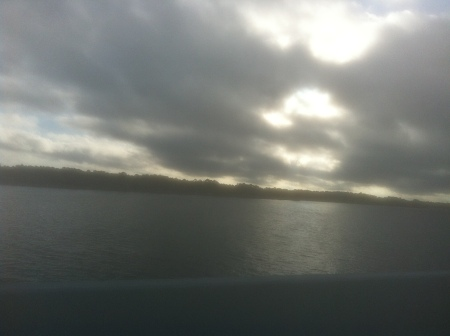 Looking towards the northeast on my return trip over Philips Inlet.