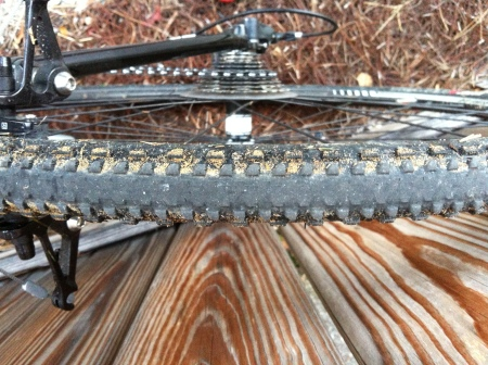excessively fast tire wear  on rear tire - no doubt from all of my pavement riding