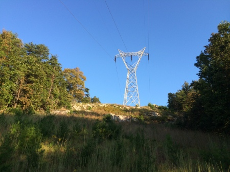 first of several power line crossings