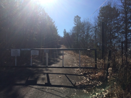 gate to top of double oak way - luckily i hold a permit
