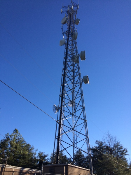 radio tower at top of double oak way