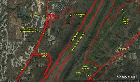 google earth - mt laurel and double oak way
